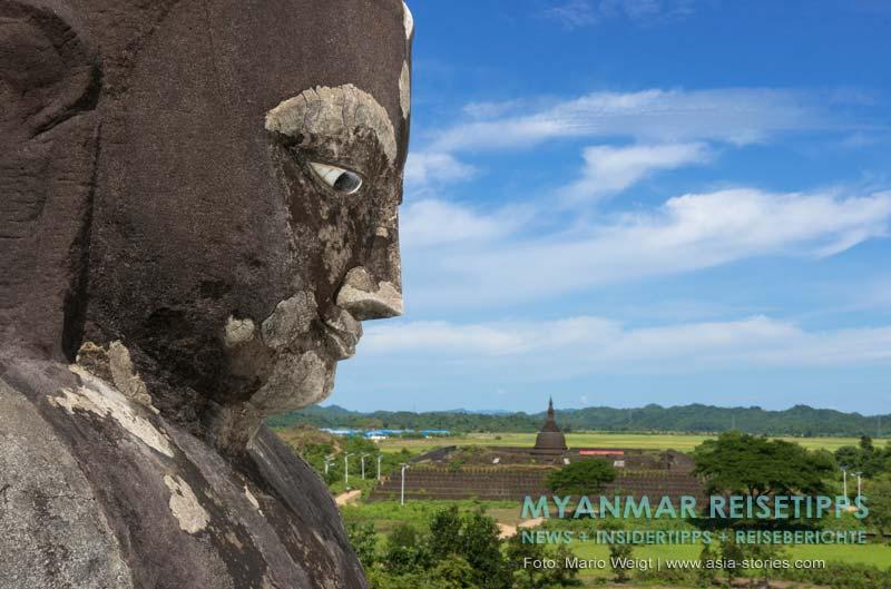 Myanmar Reisetipps | Mrauk U | View von der Pizi-Pagode zur Kothaung Paya