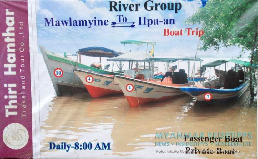 Myanmar Reisetipps | Mawlamyaing (Mawlamyine) | Bootsverbindung Mawlamyaing nach Hpa-an