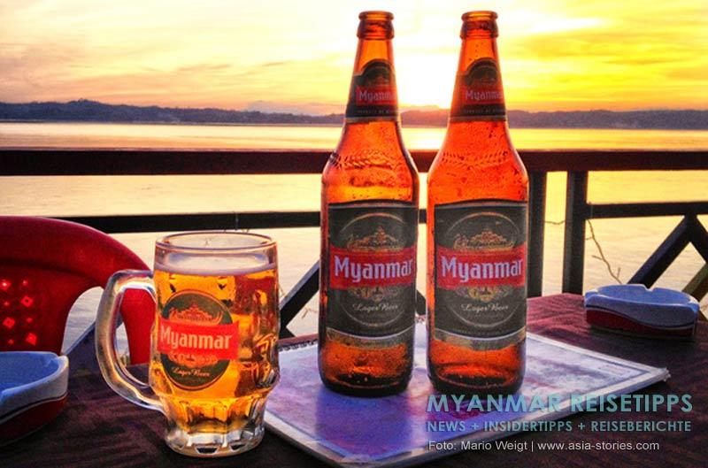 Myanmar Reisetipps | Magwe | Blick von der Außenterrasse vom Elysium Restaurant auf den Ayeyarwady