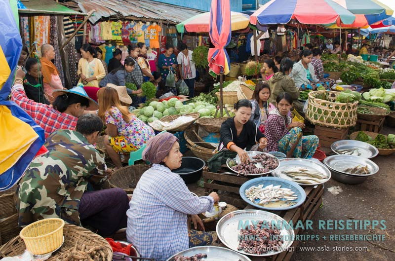 Myanmar Reisetipps | Magwe | Marktszene