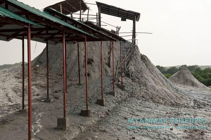 Myanmar Reisetipps | Magwe | Schlammvulkan Nga Ka Pwe Taung