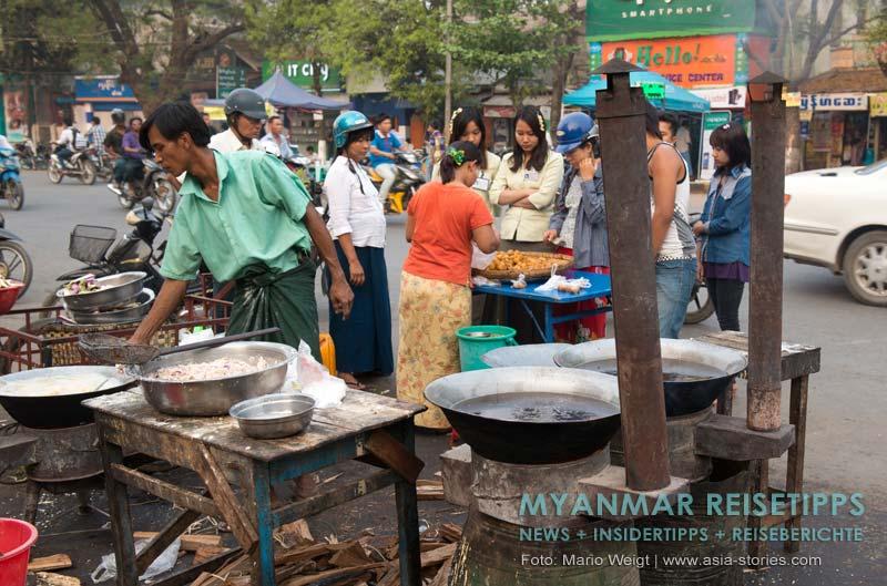Myanmar Reisetipps | Monywa | Essensmarkt