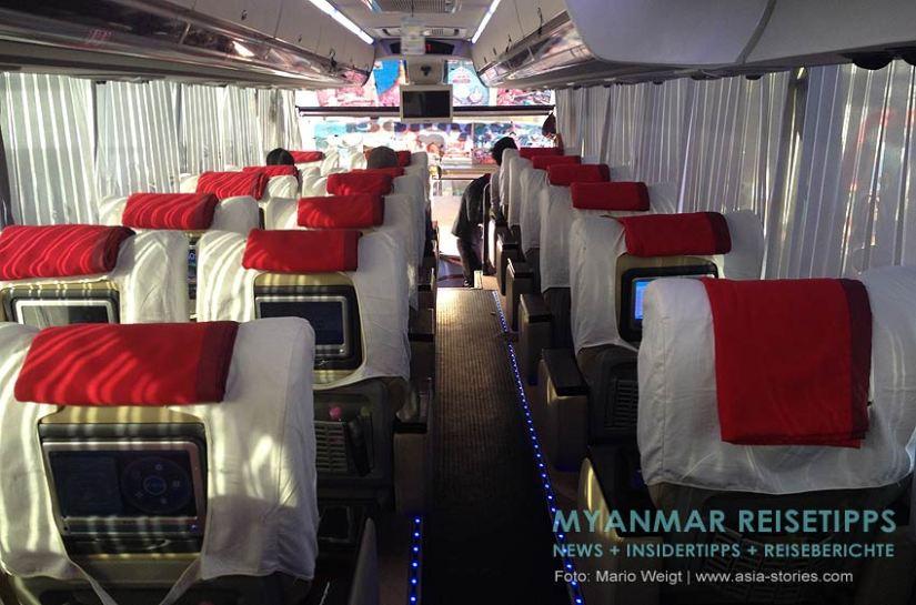 Myanmar Reisetipps   Mawlamyaing (Mawlamyine)   Bus von Mawlamyaing nach Yangon