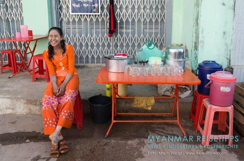 Myanmar Reisetipps   Mawlamyaing (Mawlamyine)   Erfrischungen auf dem Markt