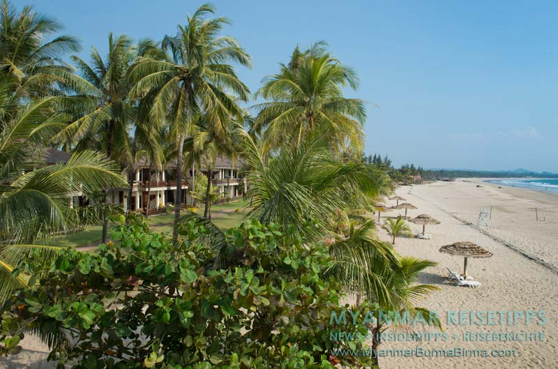 Myanmar Reisetipps   Ngwe Saung (Silberstrand)   Mitten in der Woche ist der Strand fast menschenleer.