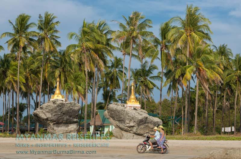 Myanmar Reisetipps   Ngwe Saung Beach (Silberstrand)   Zwillingspagode Kyauk Maung Hna Ma