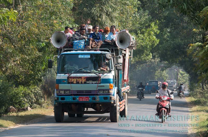 Myanmar Reisetipps | Pindaya und die Höhlen | Anreise nach Pindaya