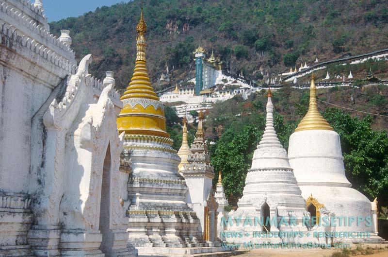 Myanmar Reisetipps   Pindaya und die Höhlen   Eingang zur Höhle mit Glasaufzug