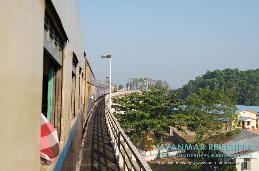 Myanmar Reisetipps | Mawlamyaing (Mawlamyine) | Bahnfahrt von Mawlamyaing nach Yangon