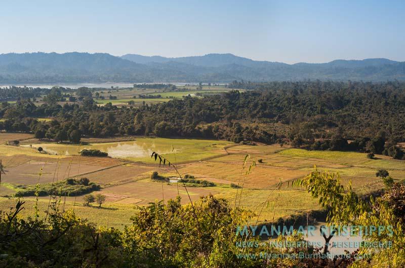 Myanmar Reisetipps | Bhamo | Aussicht auf den Ayeyarwady vom Kloster Thein Hpa