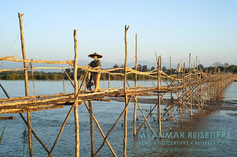 Myanmar Reisetipps | Bhamo | Bambusbrücke