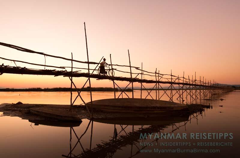 Myanmar Reisetipps | Bhamo | Bambusbrücke über den Tamphin-Fluss