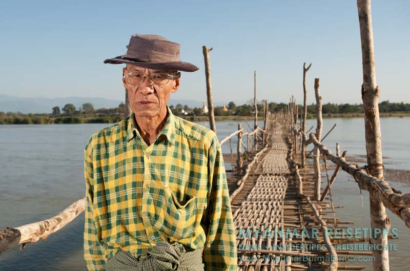 Myanmar Reisetipps | Bhamo | Brückenwärter am Tamphin-Fluss