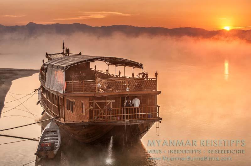 Myanmar Reisetipps | Flussfahrt Bhamo nach Mandalay | Unser Nachbar in der ersten Nacht