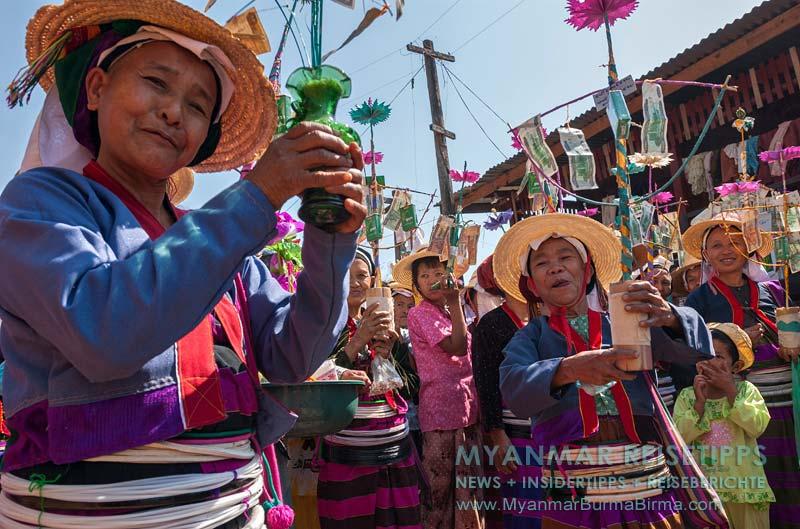 Myanmar Reisetipps   Pankam nahe Hsipaw   Festival der Volksgruppe Palaung