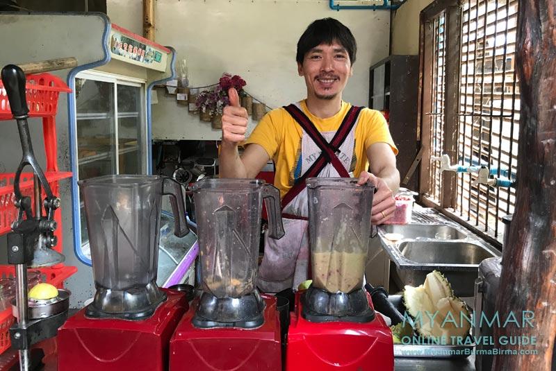 Myanmar Reisetipps | Hsipaw | Mr. Shake macht die besten Milchshakes der Stadt