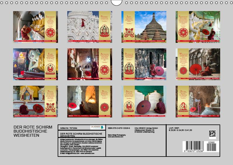 Kalender 2019 • DER ROTE SCHIRM - BUDDHISTISCHE WEISHEITEN •