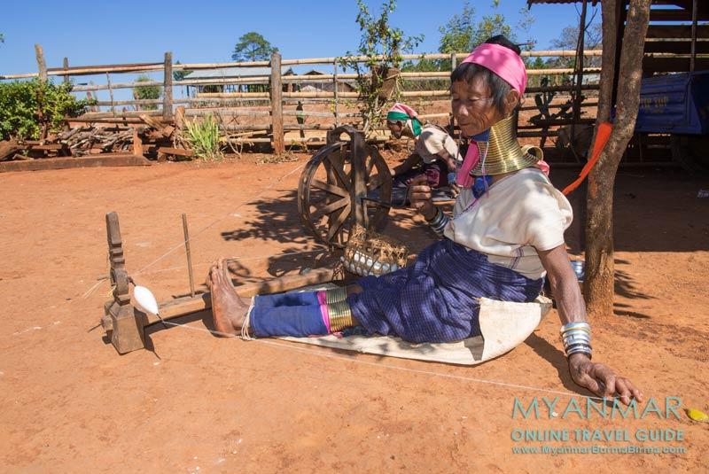 Myanmar Reisetipps   Loikaw   Im Dorf Pan Pet bei den Kayan (Palaung)