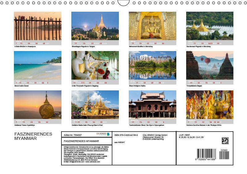 Wandkalender für 2019 | MYANMAR