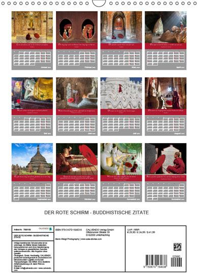 Kalender mit Planungs Funktion 2019 DER ROTE SCHIRM