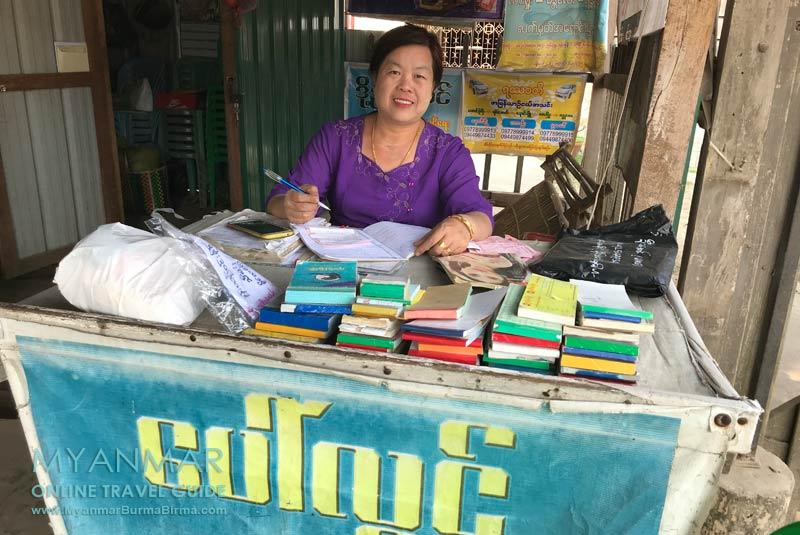 Myanmar Reisetipps | Hsipaw | Bustickets in alle Richtungen gibt es bei Frau Ma Soe