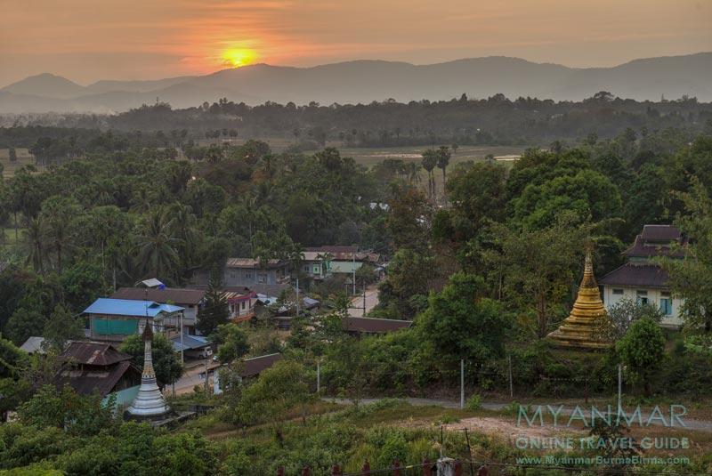 Myanmar Reisetipps | Dawei | Sonnenuntergang von der Za-Lun-Pagode
