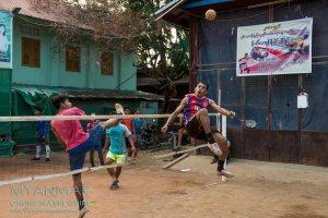 Myanmar Reisetipps | Dawei | Chinlon ist in Myanmar sehr beliebt.