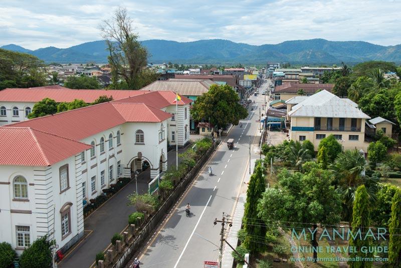 Myanmar Reisetipps | Dawei | In den Straßen von Dawei herrscht wenig Verkehr.
