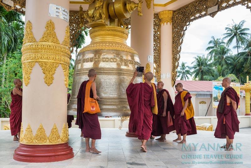 Myanmar Reisetipps | Dawei | Die neue Glocke in der Pagode Shwe Taung Sar