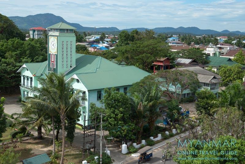 Myanmar Reisetipps | Dawei | Das Rathaus von Dawei wurde 1941 erbaut.