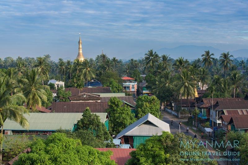 Myanmar Reisetipps | Dawei | Aussicht vom Shwe Moung Than Hotel