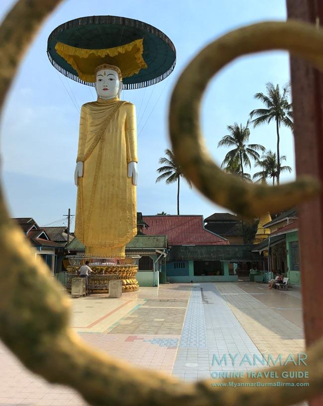 Myanmar Reisetipps | Dawei | Stehender Buddha in der Pagode Yat Taw Mu