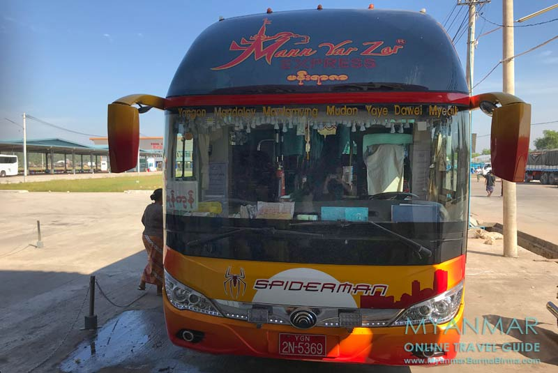 Myanmar Reisetipps | Myeik | Busunternehmen Mann Yar Zar fährt nach Dawei
