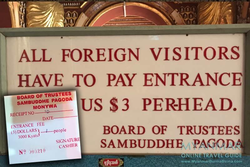 Myanmar Reisetipps | bei Monywa | Ticket für die Thanboddhay-Pagode