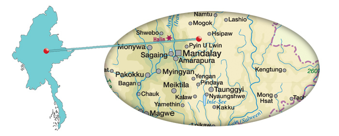 Myanmar - Karte Gokteik Viadukt