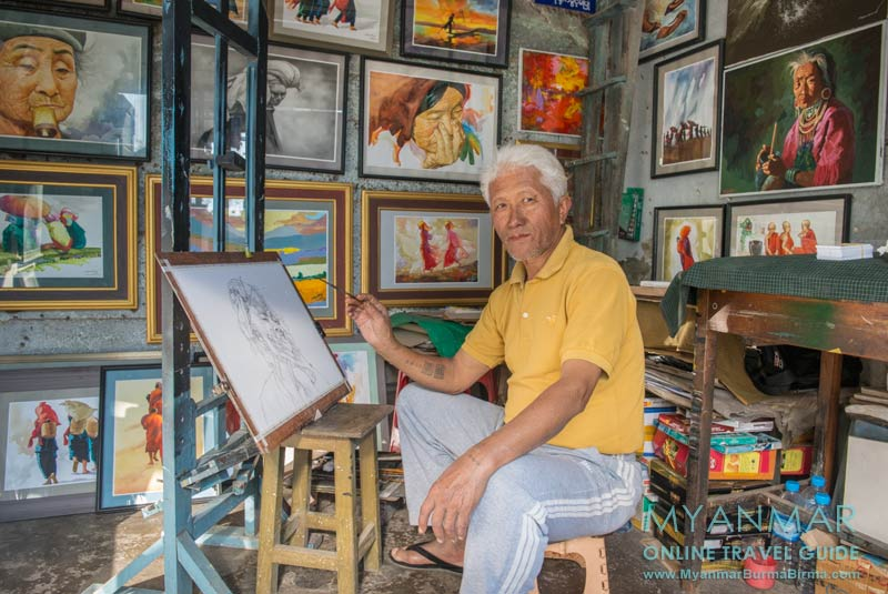 Myanmar Reisetipps | Kalaw | Maler Than Aung
