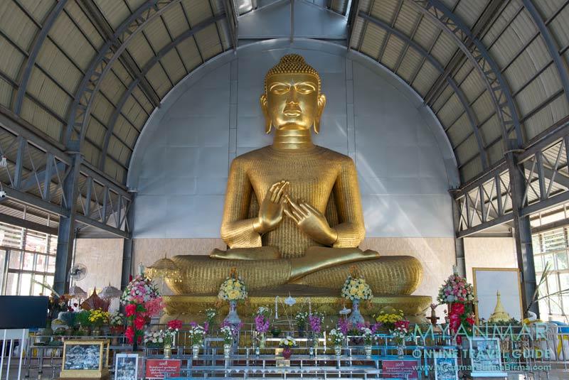 Myanmar Reisetipps | Thaton | Pagode Bamboo Meshes mit dem Buddha aus Bambus