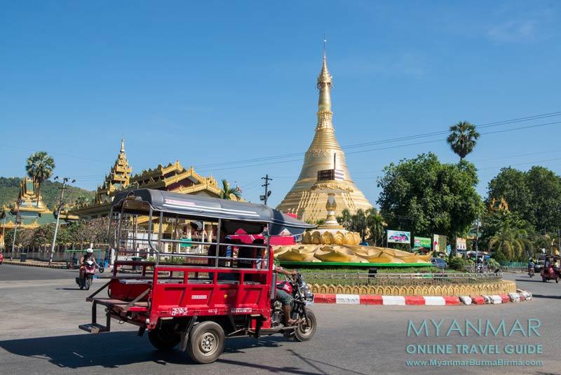 Myanmar Reisetipps | Thaton | Kreisverkehr um die Pagode Shwezayan