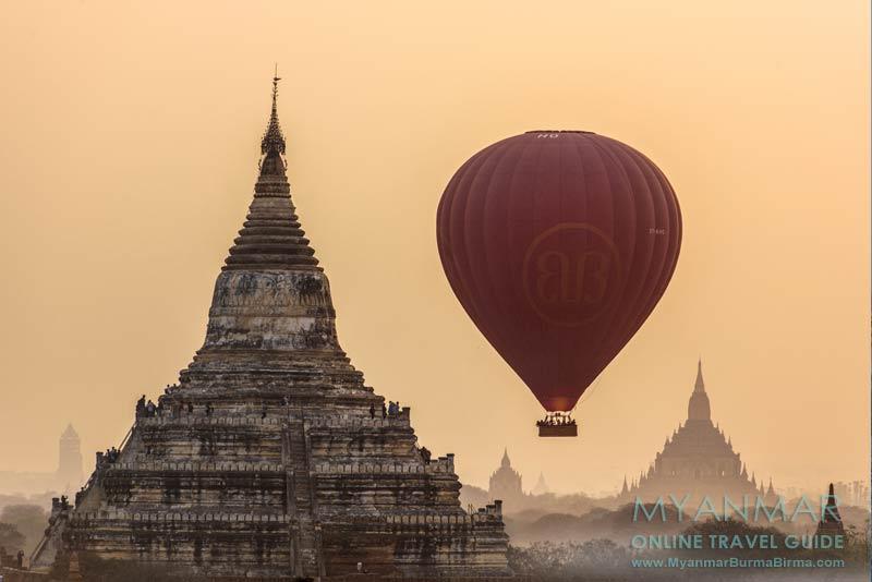 Myanmar Reisetipps | Bagan | Mit dem Ballon über der Tempelebene schweben