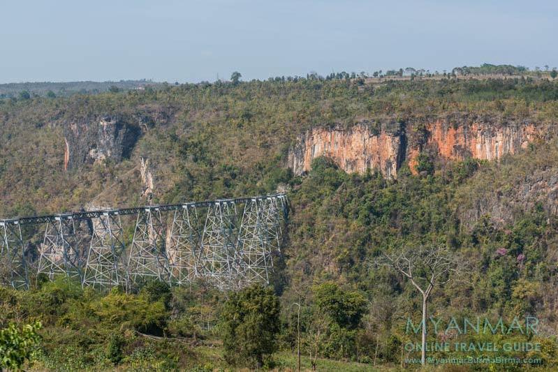 Myanmar Reisetipps | Bahnfahrt zwischen Mandalay und Hsipaw | Gokteik-Viadukt