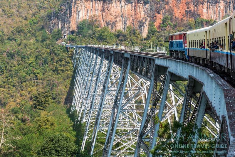 Myanmar Reisetipps | Mit dem Zug von Mandalay nach Hsipaw |Gokteik-Viadukt
