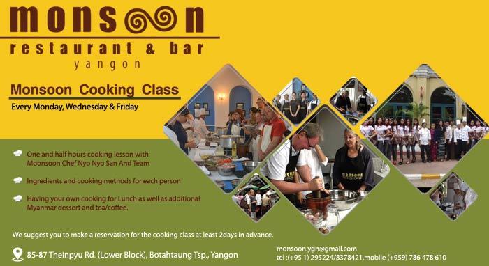 Myanmar Reisetipps | Yangon | Kochschule Monsoon Restaurant in Yangon