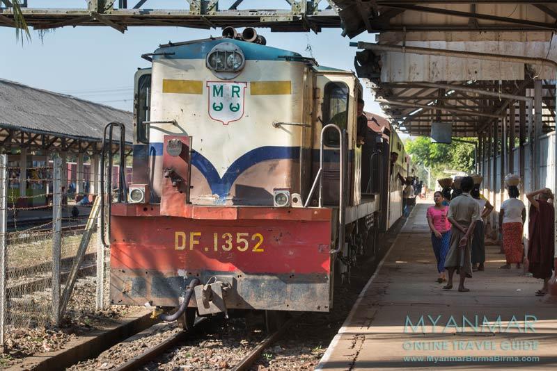Myanmar Reisetipps | Bago | An- und Abreise mit dem Zug