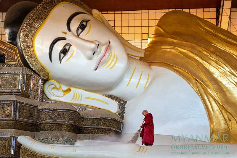 Myanmar Reisetipps | Bago | Liegender Buddha in der Shwethalyaung-Pagode