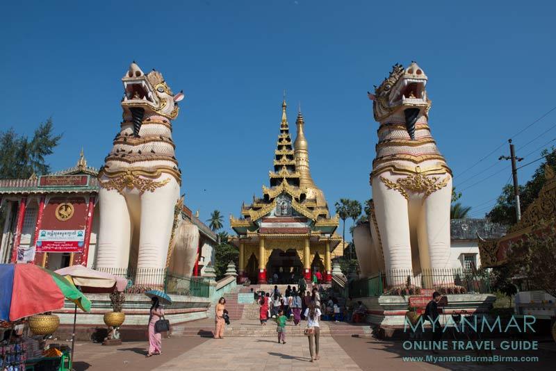 Myanmar Reisetipps | Bago | Eingang der Shwemawdaw-Pagode