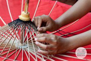 yanmar Reisetipps | Pindaya | Schirmherstellung im Aung Umbrella Shop