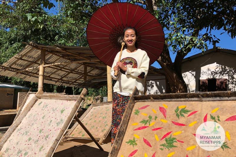 Myanmar Reisetipps | Pindaya | Win Win Phyu vom Aung Umbrella Shop