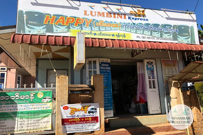 Myanmar Reisetipps | Pindaya | Happy Highway Ticket Centre
