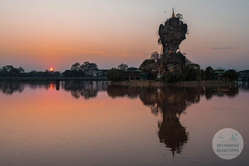 Myanmar Reisetipps | Hpa-an | Felsnadel mit der Pagode Kyauk Ka Lat
