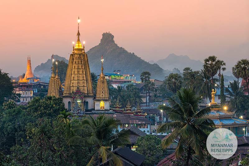 Myanmar Reisetipps | Hpa-an | Kloster Ye Kyaung und Karstberg Hpan Pu